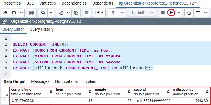 PostgreSQL Time