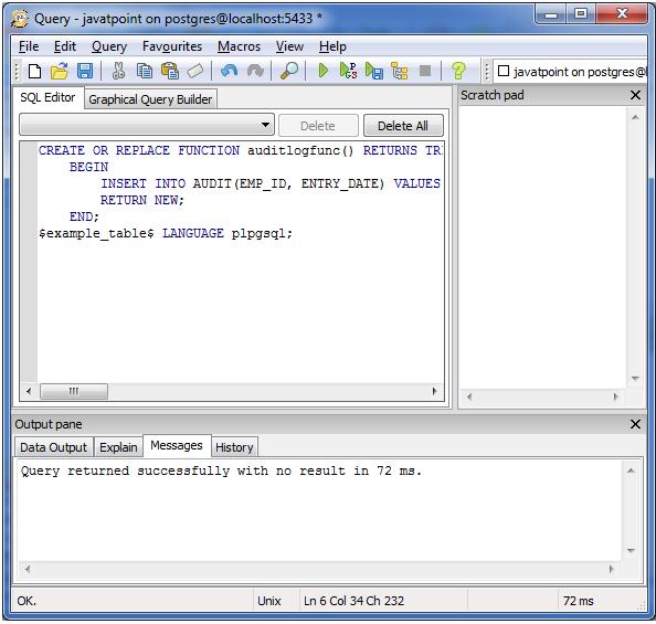 PostgreSQL triggers1