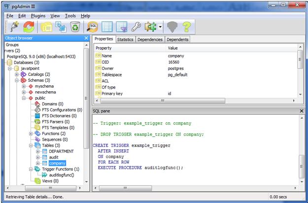 PostgreSQL triggers2