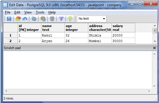 PostgreSQL triggers3