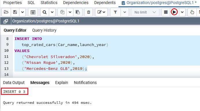 PostgreSQL Union