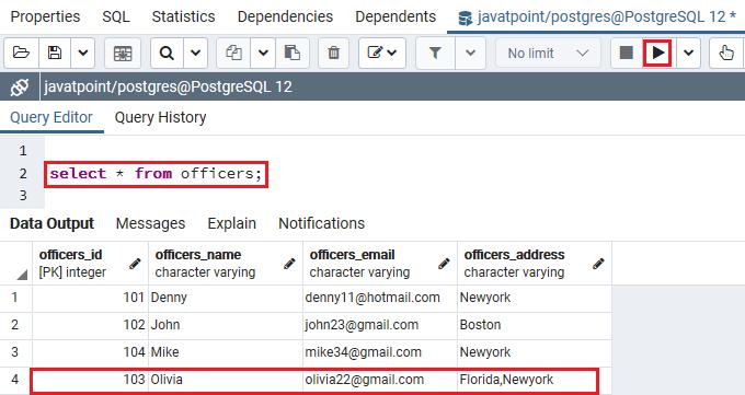 PostgreSQL Upsert