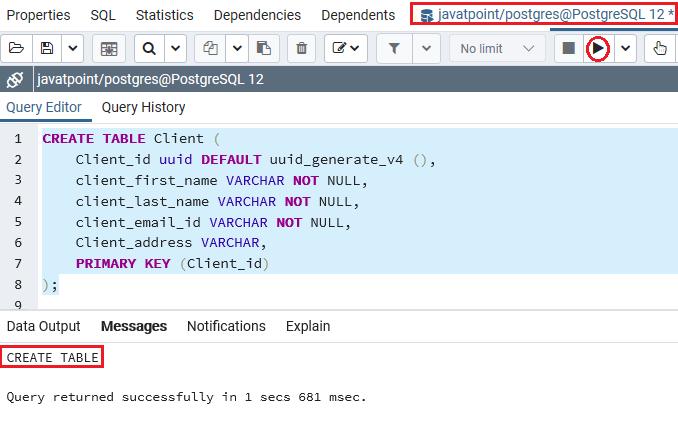 PostgreSQL UUID