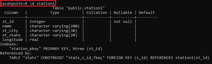 Psql commands