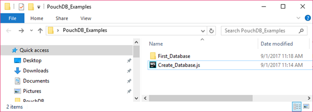 PouchDB Create database 2