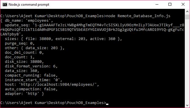 PouchDB Database info 2