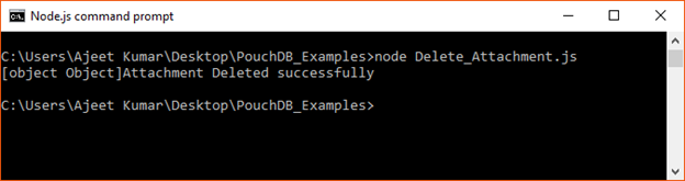 PouchDB Delete attachent 2