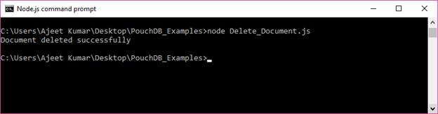 PouchDB Delete document 2