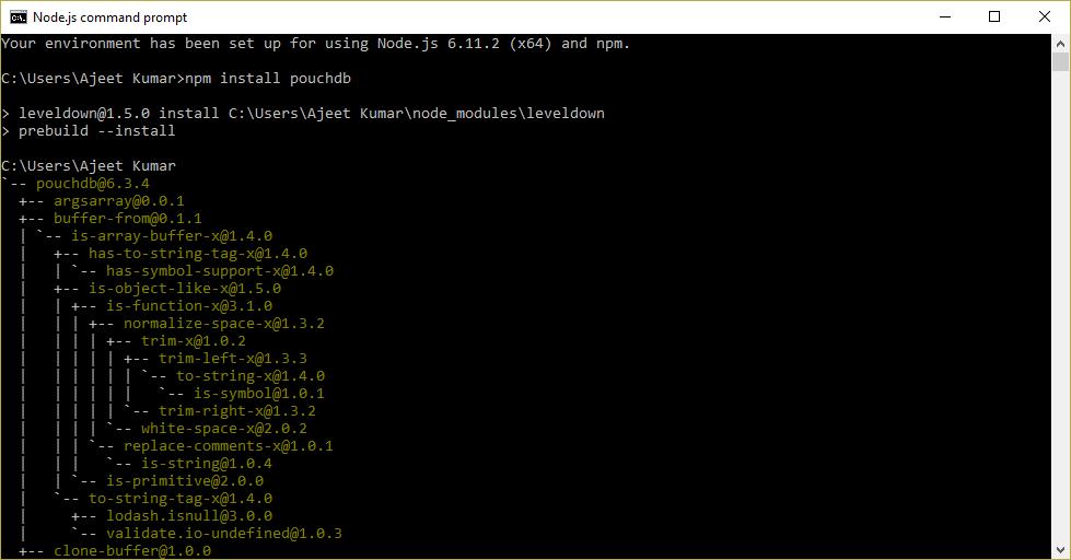 PouchDB Install 1
