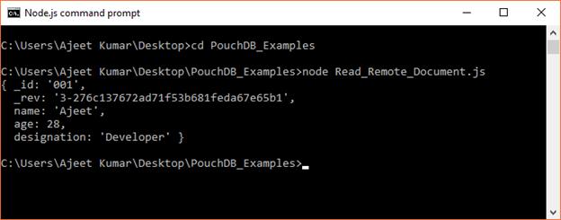 PouchDB Read document 4