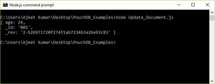 PouchDB Update document 1