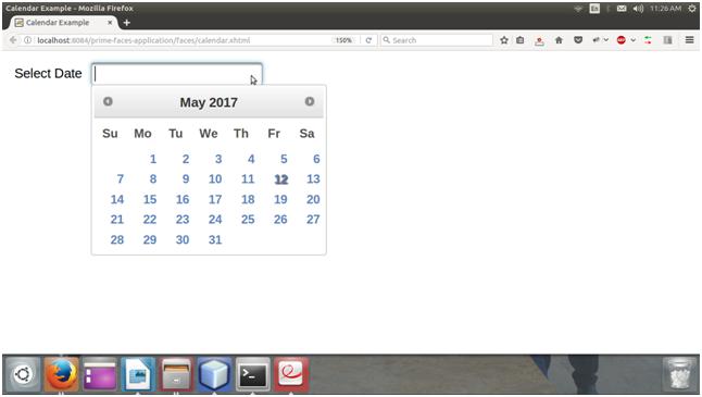Primefaces Calendar - javatpoint