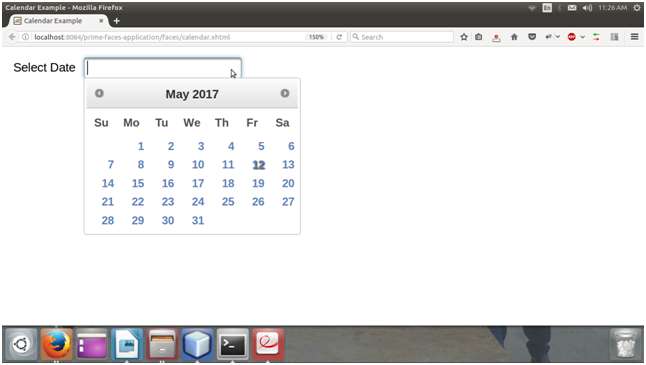 Primefaces Calendar 1