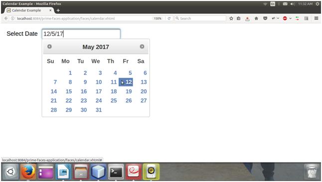 Primefaces Calendar 2