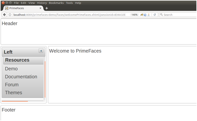 PrimeFaces Configuration 7