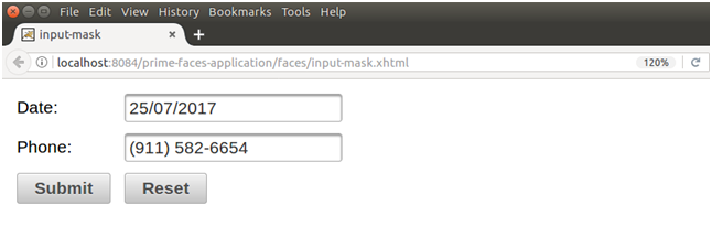 Primefaces Inputmask 2