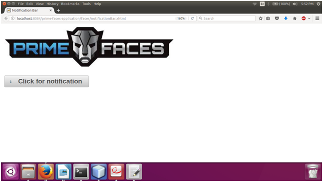 PrimeFaces NotificationBar 1