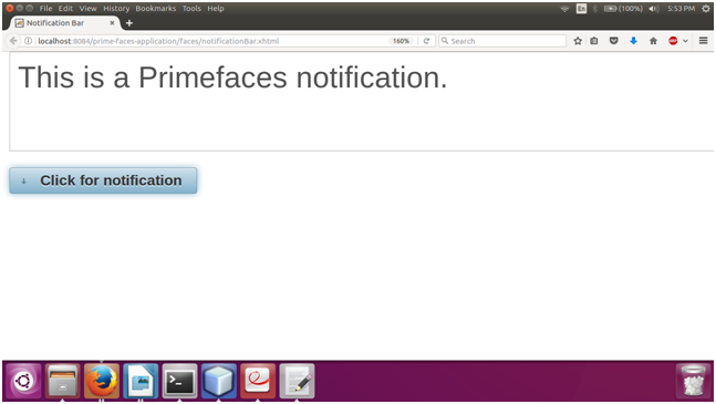 PrimeFaces NotificationBar 2