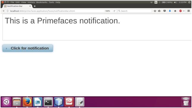 PrimeFaces NotificationBar 2