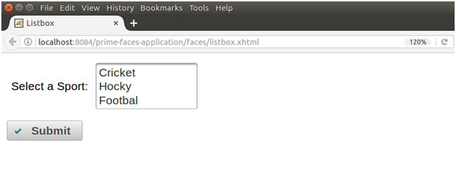 PrimeFaces Selectonelistbox 1