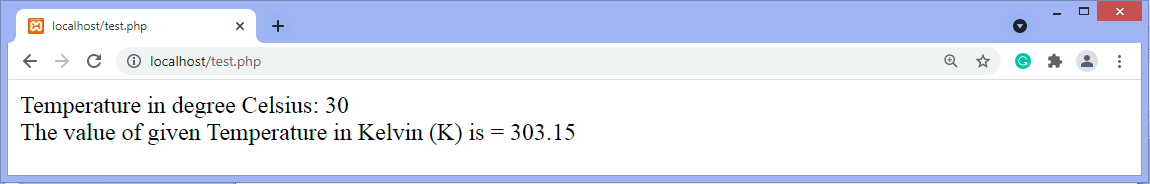 Program to convert temperature degree from Celsius to Kelvin