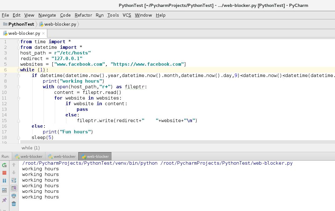 Building python script