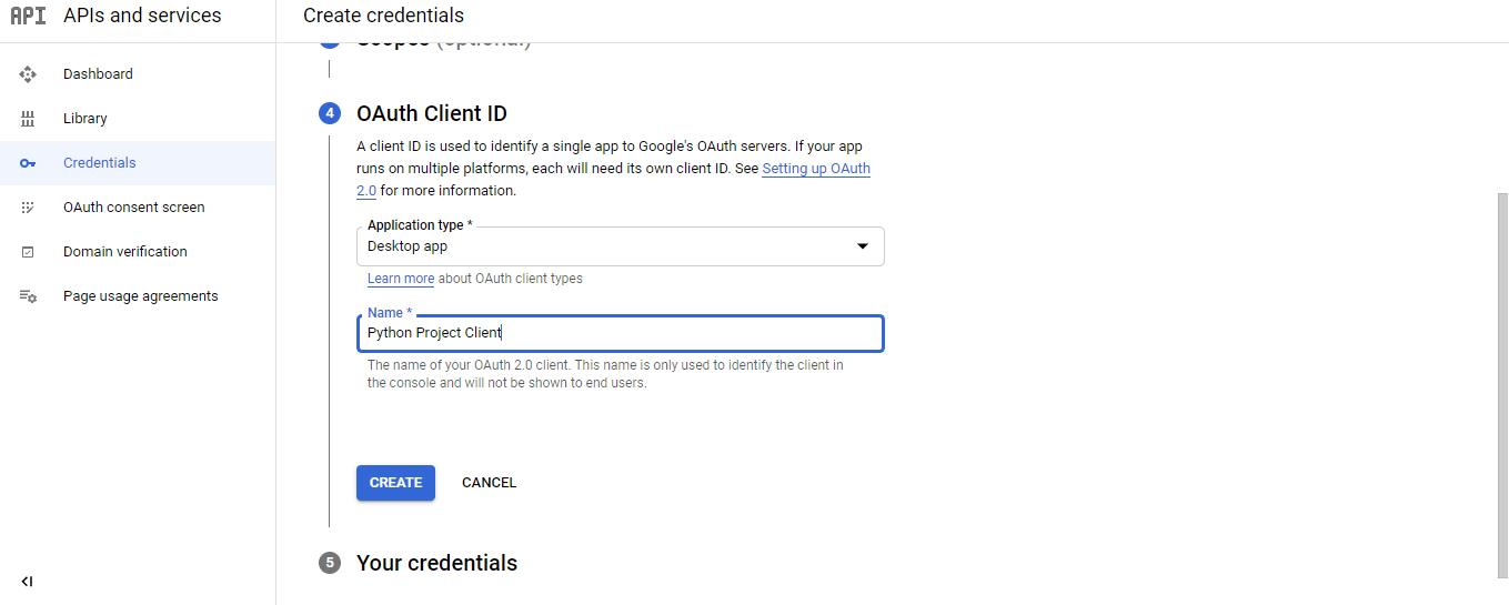Gmail API in Python