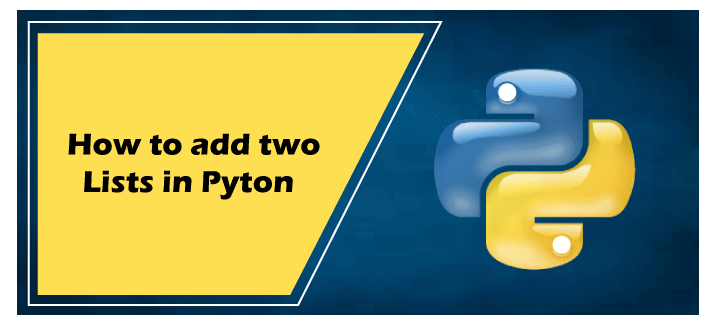 How to add two lists in Python