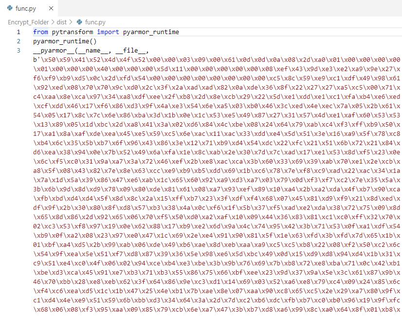 Obfuscating a Python program