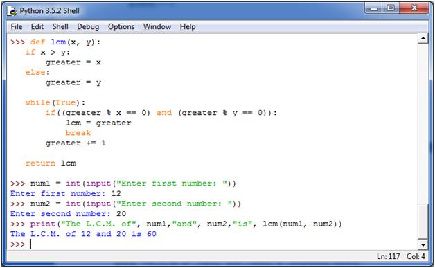 Python Function Programs1