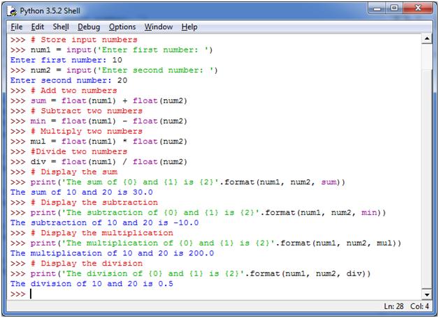 Python Basic Programs2