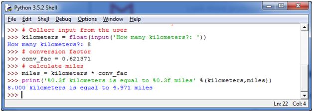 Python Convert Kilometers to Miles - javatpoint
