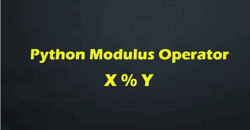 Python Modulus Operator