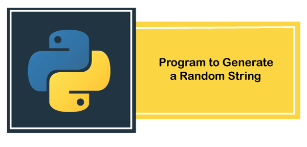 Python Program to generate a Random String