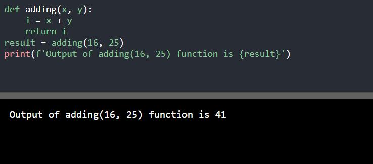Python return statement