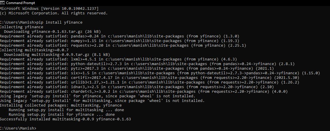 Python yfinance Module