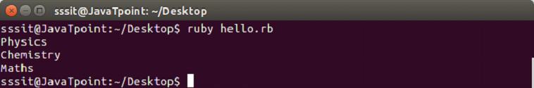 Ruby Data types 7