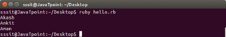 Ruby Data types 8