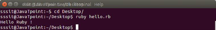 Ruby Hello ruby program 2