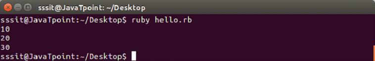 Ruby Blocks 1
