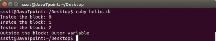 Ruby Blocks 5