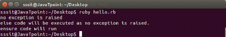 Ruby exceptions 5