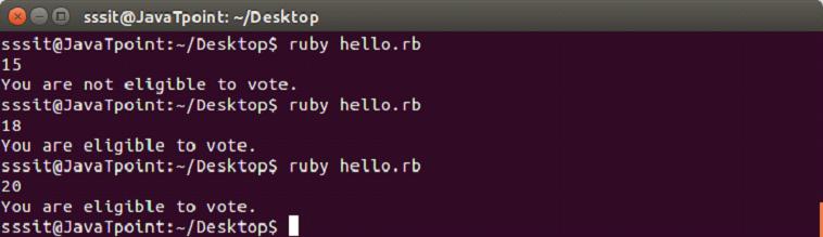 Ruby if else 4