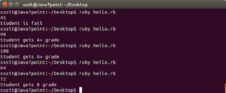 Ruby if-else - javatpoint