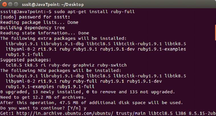 Ruby installation 1
