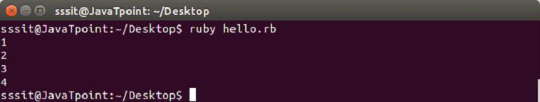 Ruby iterators 1