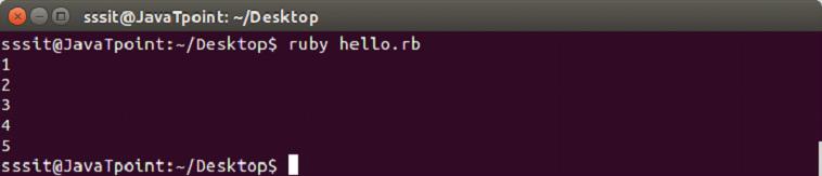 Ruby iterators 3
