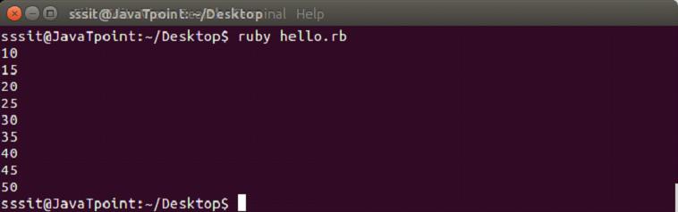 Ruby iterators 4
