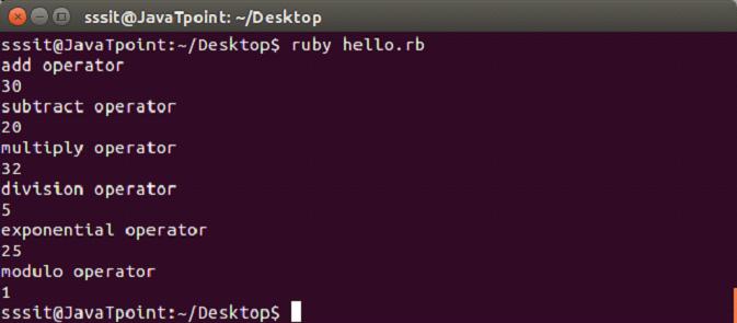Ruby operators 2