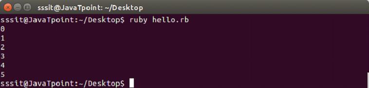 Ruby redo statement 1